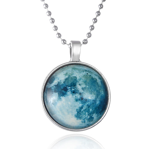 Glowing Earth Round Cameo - Necklace