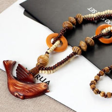 Wood Bird Necklace
