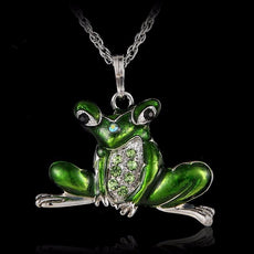 Vintage Frog Necklace