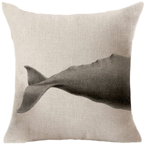 Ocean Whale and Shark Cushion