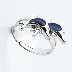 Double Dolphin Mood Ring