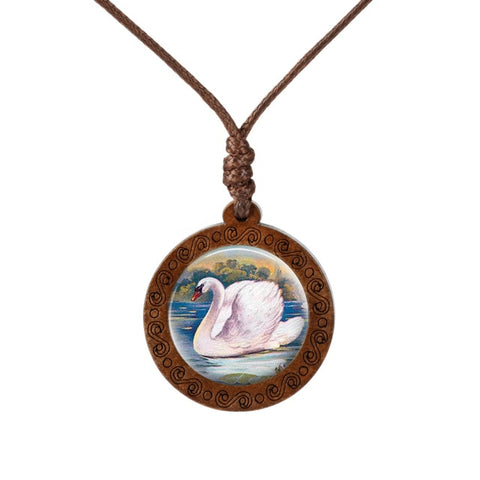 Swan Wood Necklace