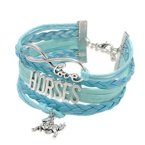 Horse Love Bracelet (4 Color Styles)