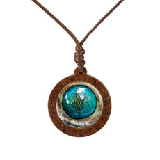 Animal's Eye Wood Necklace