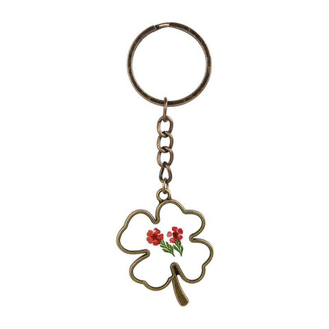 Clover Shaped flower Keychain