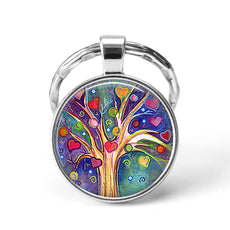 Colorful Tree Keychain