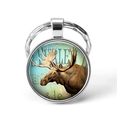 Moose Animal Keychain
