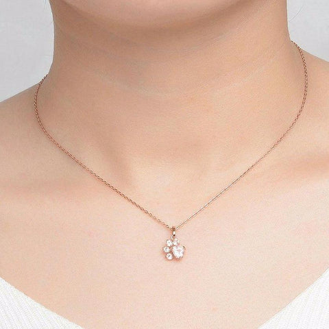 Sterling Silver Rose Paw™ Necklace