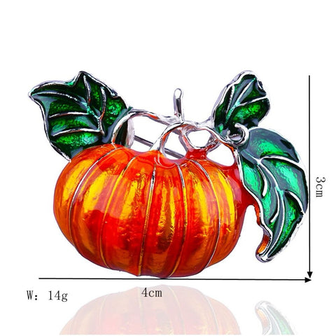 Pumpkin Brooch