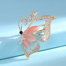 Free Crystal Butterfly Brooch