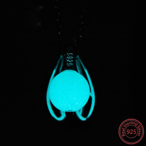 Firefly Grow in the Dark Sterling Necklace