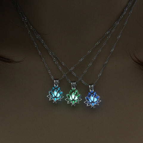 Lotus Glow in the Dark Necklace
