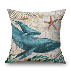 Marine Life Cushion Cover