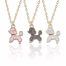Poodle Enamel Necklace