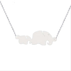 Mom Baby Elephant Necklace