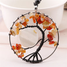Orange Tree of Life Necklace