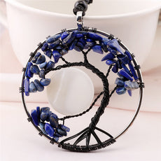 Blue Tree of Life Necklace