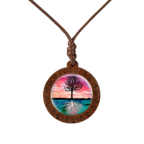 Reflection of a Tree  Wood Necklace