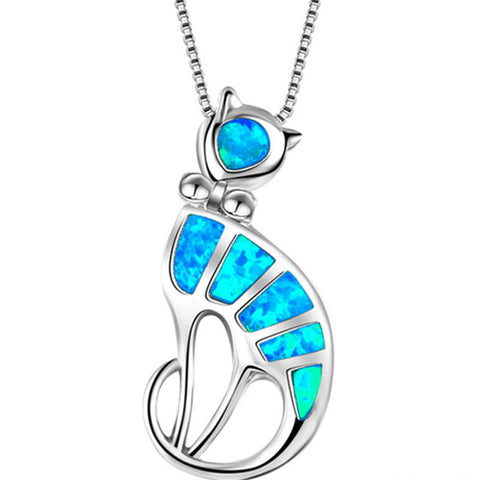 Free Opal Cat Necklace