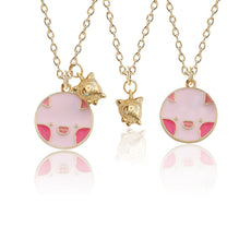 Pig Enamel Necklace