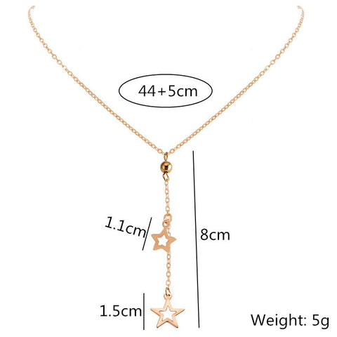 Free Falling Stars Necklace