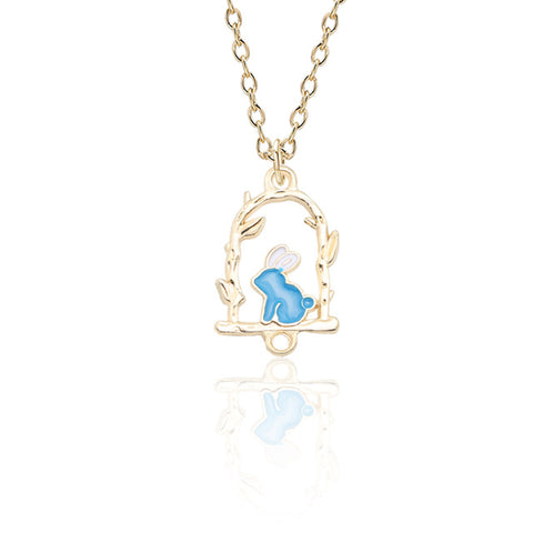 Swinging Rabbit Necklace