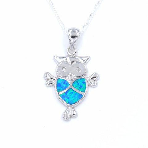 Opal Owl Necklace