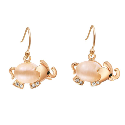 Get a Pair Of Cute Opal Elephant Matching Earrings for $7.95!