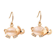 Opal Elephant Earrings  (2 Color Styles)