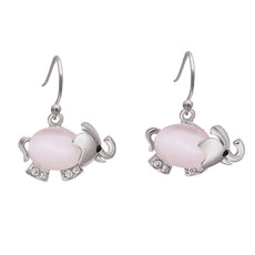 Free Opal Elephant Earrings  (2 Color Styles)