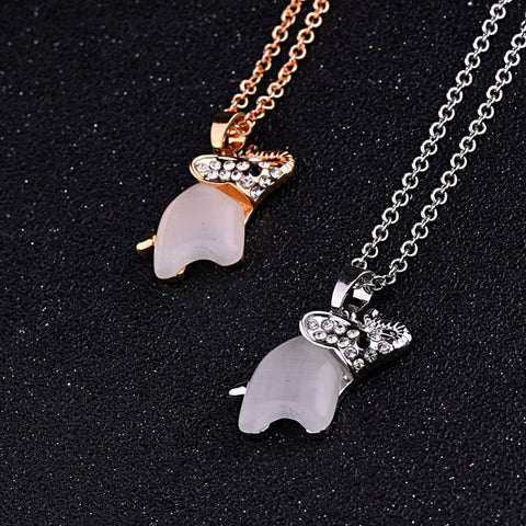 Free Cute Opal Elephant Necklace (2 Color Styles)