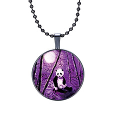 Panda Round Cameo - Necklace