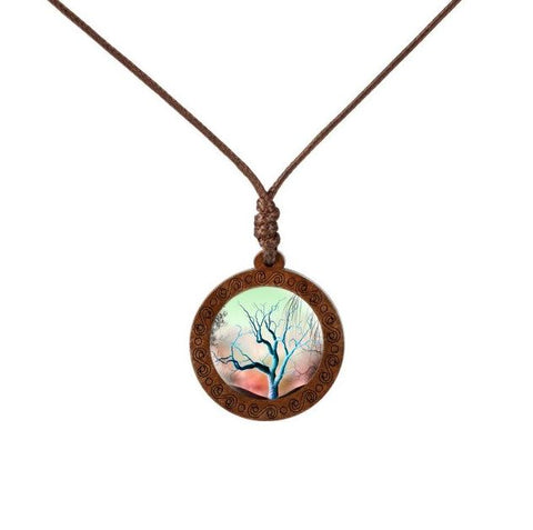 Fall Season Wood Necklace