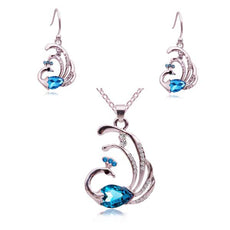 Peacock Necklace and Earrings Set (2 Color Styles)
