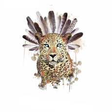 Free Feathered Leopard Sticker for Clothes