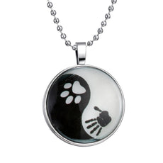 YingYang Animal Glow in the Dark Round Cameo - Necklace