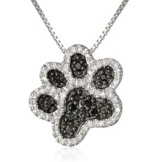 Vintage Paw Necklace