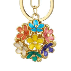Crystal Flower Keychain