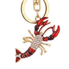 Crystal Lobster Keychain