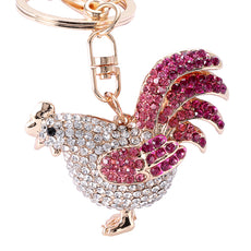 Crystal Chicken Keychain