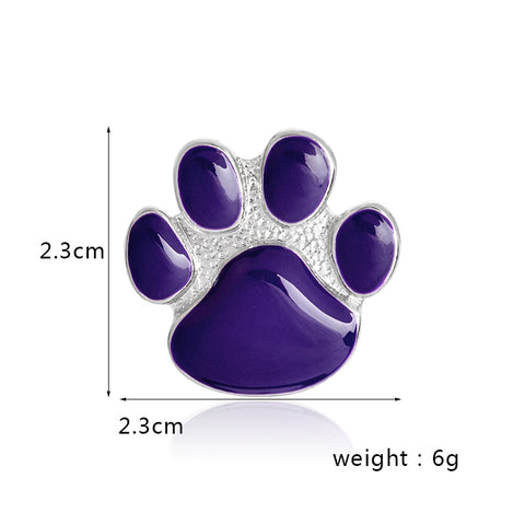 Purple Paw Brooch
