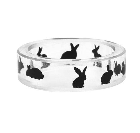 Rabbit Clear Resin Ring