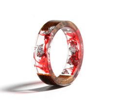 Metallic Flakes and Resin Wood Ring
