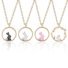 Enamel Rabbit Necklace