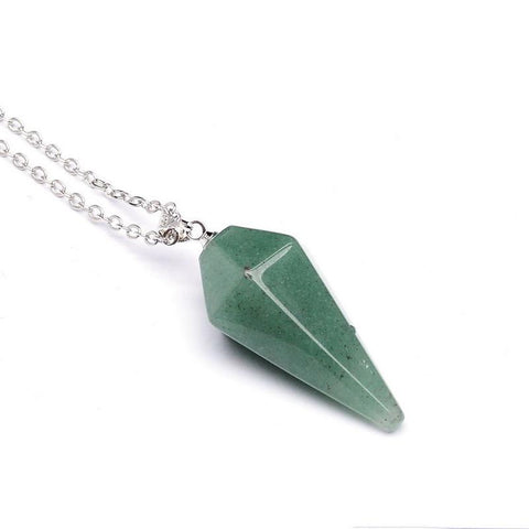 Hexagonal Aventurine Stone Necklace