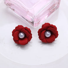 Free Rose Petal Pearl Earrings