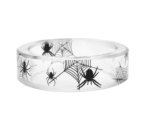 Spider Clear Resin Ring