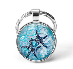 Starfish Animal Keychain