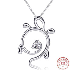Hollow Turtle Silver Necklace