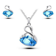Swan Necklace and Earrings Set  (3 Color Styles)
